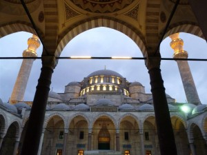 Istanbul's Süleymaniye Mosque, where we first heard the Islamic call to prayer.