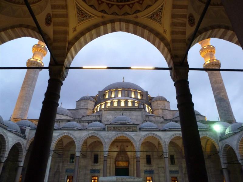 Istanbul's Süleymaniye Mosque, where we first heard the Islamic call to prayer.
