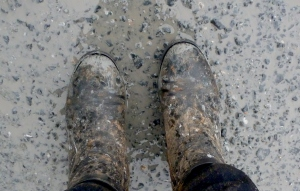 My formerly black boots.