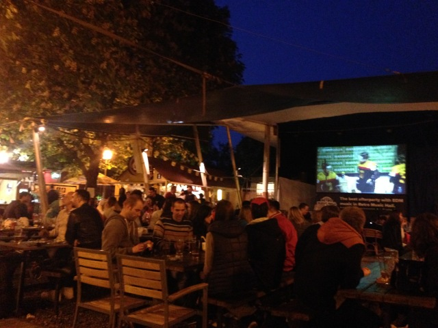 The massive Riegrovy Sady Beer Garden has a lot of local flavor, and a giant screen to air the big games.
