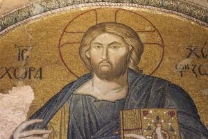 The rather severe Christ Pantokrator.