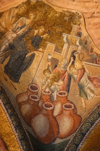 The wedding at Cana, the first miracle. There is a lot of emphasis on the miracles in these mosaics
