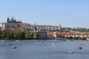 Boats on the Vltava