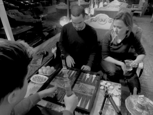 Backgammon and hookah