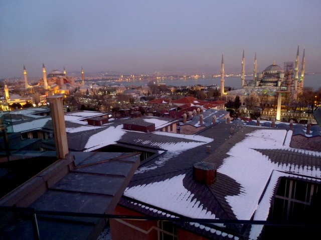View from atop Fine Dine Istanbul