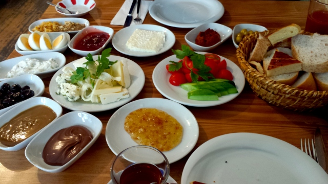 Turkish breakfast at Van Kahvalti Evi