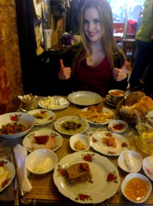 Turkish breakfast at Cafe Privato