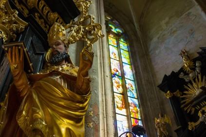 Inside St. Barbara Kutna Hora